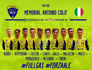 Team Franco Ballerini - Due C: domenica il Memorial Antonio Colo